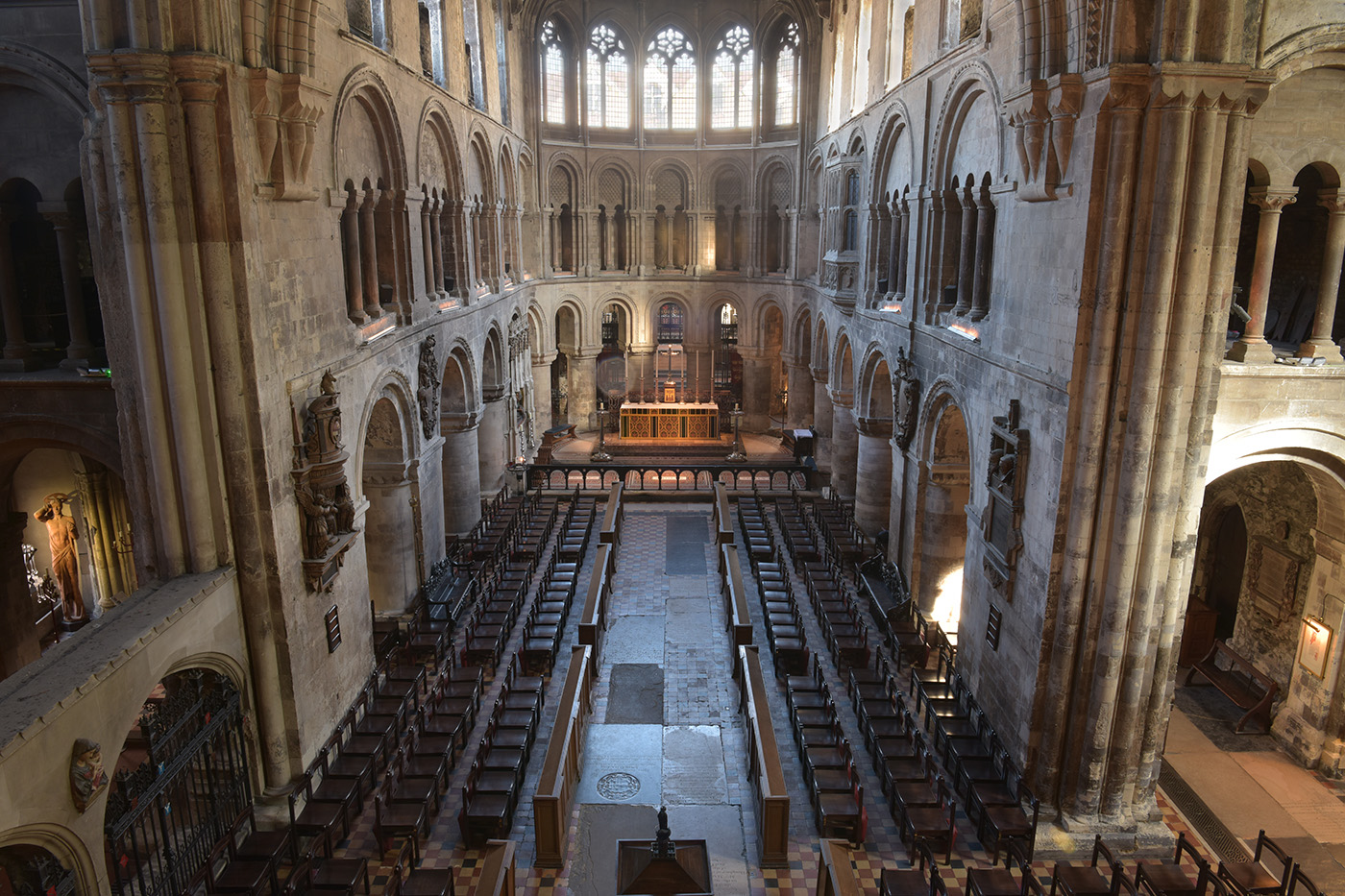 The interior of St Bartholomew the Great church.